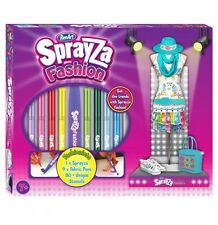 SF6012 Renart Sprayza Fashionista Design Set Fabric Airbrush Pens Girls Age 7Y+