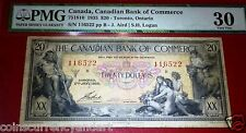 $20 1935 Canadian Bank of Commerce SEAMAIDENS ,PMG 30 ,CHARTERED, BANKNOTE