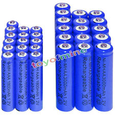 16 AA 3000mAh + 16 AAA 1800mAh battery Bulk Nickel Hydride Rechargeable 1.2V Blu