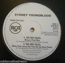 "SYDNEY YOUNGBLOOD ~ No Big Deal ~ 12"" Single PROMO"