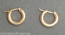 Designer Roberto Coin Italy 18K Yellow Gold Simple Hoop Earrings!