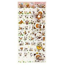 San-X Decorative Sticker Rilakkuma Transparent & Puffy Panda (SE27702) 14c