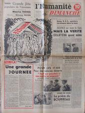L'Humanité Dimanche (3 sept 1950) Arras raz de marée - Fête Humanité - Corée
