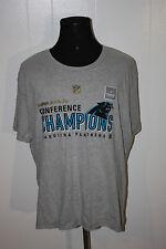 Carolina Panthers Super Bowl 50 Gray Tee Shirt XL