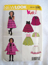 New Look KIDS! Sewing Pattern 6527 Girls Childs Toddler Dress Poncho Size A 3-8