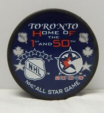 2000 Toronto Home Of The 1st And The 50th NHL All Star Puck 2Toronto Rare
