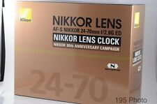 Nikon NIKKOR 80th Anniversary lens clock ** Not for sale ** Rare ** (#947)