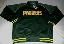 Green Bay Packers Track Jacket 2XL Full Zip Majestic Green NFL Team Apparel