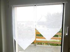 weiße Scheibengardine 80cm breit Zipfel  kurz Gardine Scheibengardinen Vorhang