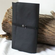 Black Leather Midori Travel Journal, Field Notes, Passport Cover, Diary, 6X3