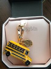 RARE! BRAND NEW! JUICY COUTURE YELLOW SCHOOL BUS BRACELET CHARM IN TAGGED BOX