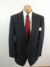 THE TOGGERY MENS CHARCOAL PINSTRIPE WOOL SUIT JACKET SPORT COAT SIZE 42R