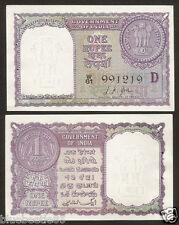 ★ ★ 1 Rupee ~ L.K Jha 'D' Inset ~ 1957 ~ UNC ~ A12 ~ ★★  bb85