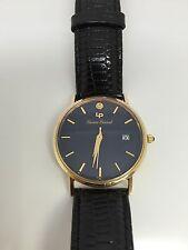 Lucien Picard 14k Blue Dial Quartz Men's Leather Band Watch