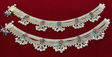 PURE SOLID SILVER ONE OF A KIND BEAUTIFUL BRIDAL BOLLYWOOD Anklet Jhanjar,Payal