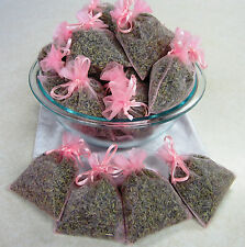 Set of 80 Lavender Sachets made with Pink Organza Bags