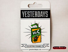 """Ecto Cooler Juice Box 1.25"""" Soft Enamel Lapel Pin Yesterdays Slimer Ghostbusters"""