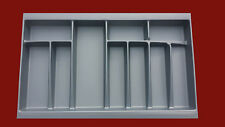 Cutlery Tray - Grey For Soft Close Kitchen Drawers - 430mm D x 55mm H x 800mm W