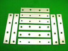 """Mending plate strap 152 x 26mm (6"""") straight fixing bracket, pack 10 zinc plated"""