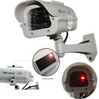SOLAR POWERED FAKE DUMMY CCTV SECURITY CAMERA FLASHING LED CAMERA SURVEILLANCE