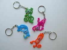CLEARANCE 12 Vinyl NEON MONKEY KEYCHAINS key chains FREE SH party favors
