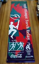 Vintage 1996 Atlanta Olympics Torch Relay Street Light Banner, Los Angeles EXC