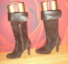 SUPERB PURA LOPEZ BROWN SUEDE LEATHER   BOOTS  EU 38
