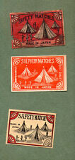 VERY OLD match box labels CHINA or JAPAN patriotic  #892