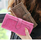 Fashion Retro Matte Stitching Lady Women Wallet Long Card Holder Purse Selling