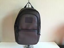 NWT COACH Heritage Backpack Men's Printed Coated Canvas Espresso F71995 $375.00