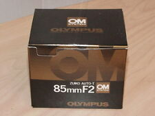 OLYMPUS OM ZUIKO 85mm F2 LENS NEW IN BOX LATER MC VERSION