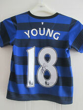 Ashley Young Signed Manchester United Away Football Shirt with COA /35189
