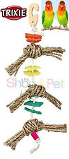 TRIXIE BIRD CAGE TOY 100% NATURAL MATERIALS, Sea Grass,Luffa (Squash Plant) Wood