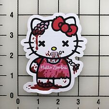 """Hello Kitty Zombie 4"""" Tall Color Vinyl Decal Sticker BOGO"""
