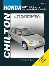 30203 Chilton's Total Car Care Repair Manuals: Honda Civic and CR-V, 2001-2006
