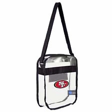 SF San Francisco 49ers Clear Carryall Crossbody Plastic Bag NFL Stadium Approved