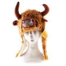 Funny Unisex Soft Highland Cow Novelty Hat