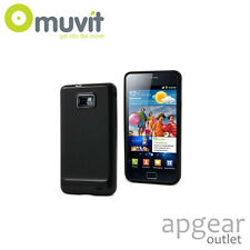 GENUINE MUVIT SAMSUNG GALAXY S2 PLUS BLACK GLAZY GEL MUSKI0014 PHONE CASE COVER
