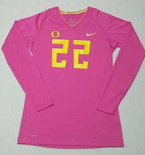 DUCKS Women's Volleyball PINK JERSEY University of OREGON Cancer Awareness Shirt
