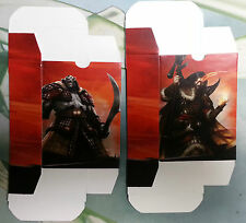 Sarkhan // Zurgo  BOTH 60 Card Deck Boxes - Khans of Tarkir  MTG Fat Pack Insert
