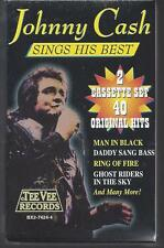 JOHNNY CASH 40 GREATEST HITS Oney Man In Black Ring Of Fire Kate 2-NEW CASSETTES