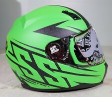 Speed And Strength Helmet SS700 Hammer Down Fluorescent  Green Medium 871407