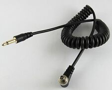5 x 1Ft 30CM Gold 3.5mm Male Plug to Male Flash PC Sync Cord Retractable Cable
