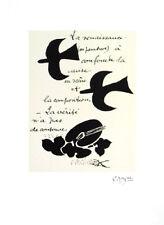 """GEORGES BRAQUE ORIGINAL PLATE SIGNED LITHOGRAPH """"LA RENAISSANCE...1917 / 47 """""""