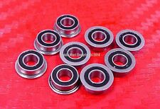 5pcs MF95-2RS (5x9x3 mm) Flanged Metal Rubber Sealed Ball Bearing MF95RS 5*9*3