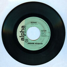 Philippines FREDDIE AGUILAR Rosas OPM 45 rpm Record