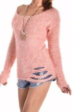 FOREVER HOT! AS NEW PEPPERMAYO SEXY BABY PINK FLUFFY CUTOUT JUMPER TOP 6 8