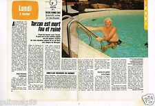 Coupure de presse Clipping 1984 (2 pages) Tarzan Johnny Weissmuller