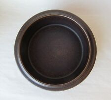 "Arabia of Finland RUSKA Round Vegetable 9 1/4"" Bowl Brown with Specks VTG MCM"