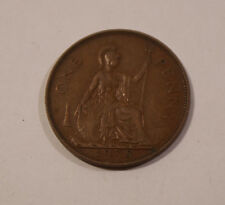 ONE PENNY ENGLAND von 1938 George VI Great Britain England Münze (A9)